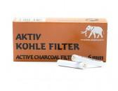 Фильтры для курительных трубок Aktiv Kohle 6 мм угольные 15х45 шт
