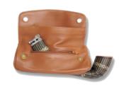 Сумка трубочная  Chacom СС006 на 1 трубку коричневая (кожа)