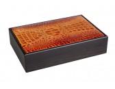 Хьюмидор Gentili 15 сигар ясень+кожа/кедр (light)