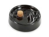 Пепельница для курительных трубок керамическая черная глянцевая