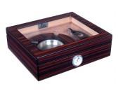 Хьюмидор Lubinski на 25 сигар с подарочным набором, Эбеновое дерево (уценка)