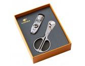 Подарочный набор: ножницы и зажигалка для сигар c пробойником, арт. AFN-L508SET