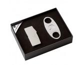 Подарочный набор: гильотина и зажигалка для сигар с тремя встроенными пробойниками, арт. AFN-L505SET