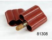 Футляр  для  3 сигар Angelo экокожа коричневый